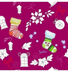 Seamless pattern with christmas things202 vector