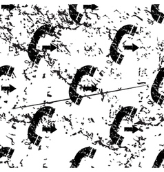 Outgoing call pattern grunge monochrome vector