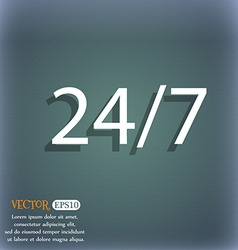 Service and support for customers 24 hours a day vector