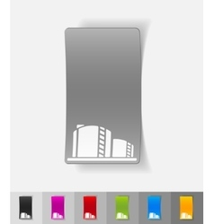 Realistic design element oil towers vector