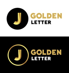 Letter j logo icon design template elements vector