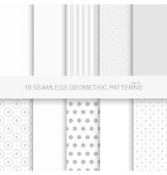 10 Geometric seamless patterns vector image