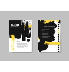 Set of artistic design templates flyers with black vector