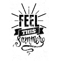 Summer typographic retro grunge poster vector