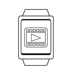Square watch and media icon graphic vector