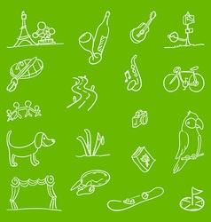 Hobby symbols vector