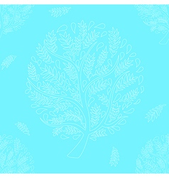 White tree on blue background vector