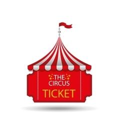 Ticket circus design vector
