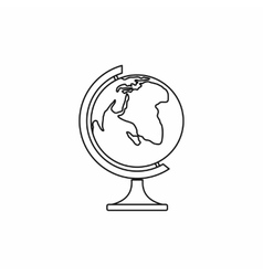 Globe icon in outline style vector