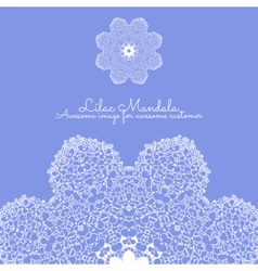 Amazing mandala of lilac flowers vector image vector image