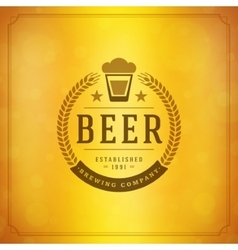 Beer logo design element in vintage style vector