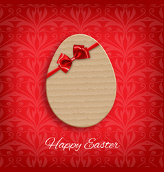 cardboard easter egg vector image vector image
