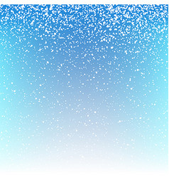 Christmas snowfall background vector image vector image