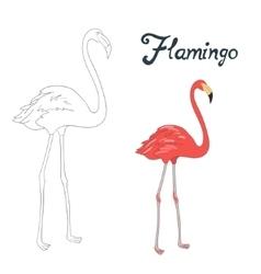 Educational game coloring book bird vector image