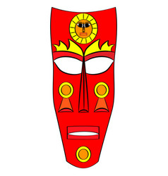 Ethnic tribal mask cartoon flat vector