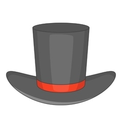Gentleman hat icon cartoon style vector image