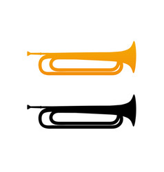 Golden bugle icon vector
