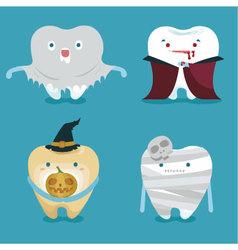 Halloween concept of teeth set vector
