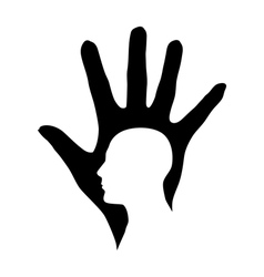 Hand and Head vector image