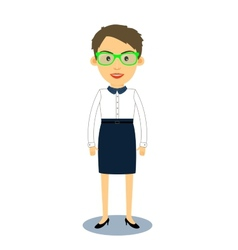 Hipster geek business woman character vector