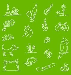 Hobby Symbols vector image vector image