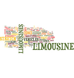 Limousine services text background word cloud vector