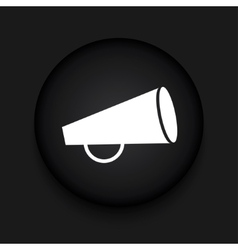 modern loudspeaker black circle icon vector image