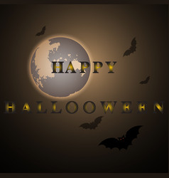 mystery happy halloween moon night vector image
