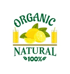Natural organic lemon fruit poster vector image