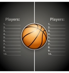 Poster template of basketball ball vector