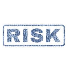 risk textile stamp vector image