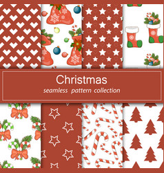 set of festive backgrounds collection of seamless vector image vector image