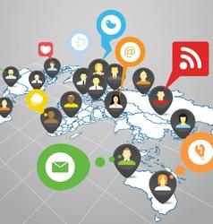 Social network scheme vector image vector image