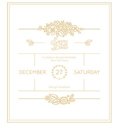 wedding invitation design template vector image vector image