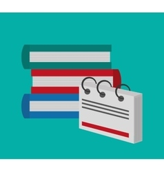 Books office related items icon vector