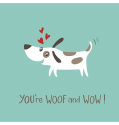 Woof and WOW vector image