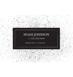 The business card template minimal style vector