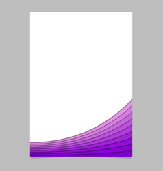 Brochure template from purple curves vector