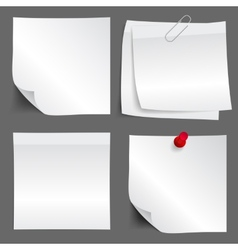 White paper note set vector