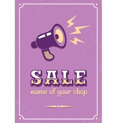 Sale megaphone vector