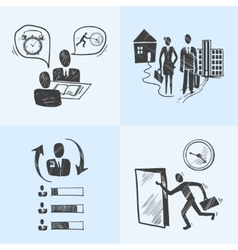 Office sketch design concept vector image
