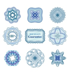 Rossete elements for diploma or certificate vector