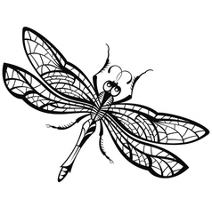 Abstract design of dragonfly vector image