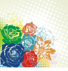 Floral bright postcard vector