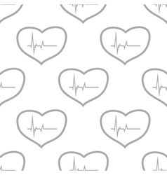New heartbeat seamless pattern vector