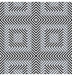 Abstract striped geometric seamless pattern vector