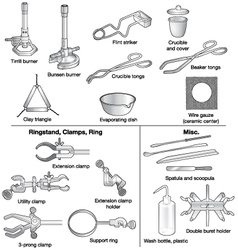 Common laboratory equipment vector