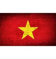 Flags vietnam with dirty paper texture vector