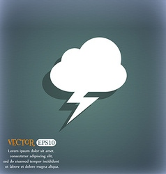 Storm icon symbol on the blue-green abstract vector