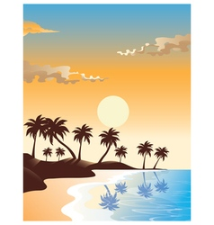 Summer sunrise design vector